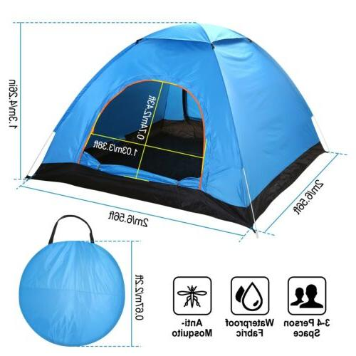 4-Person Instant Pop-Up Camping Outdoor Family Shelter