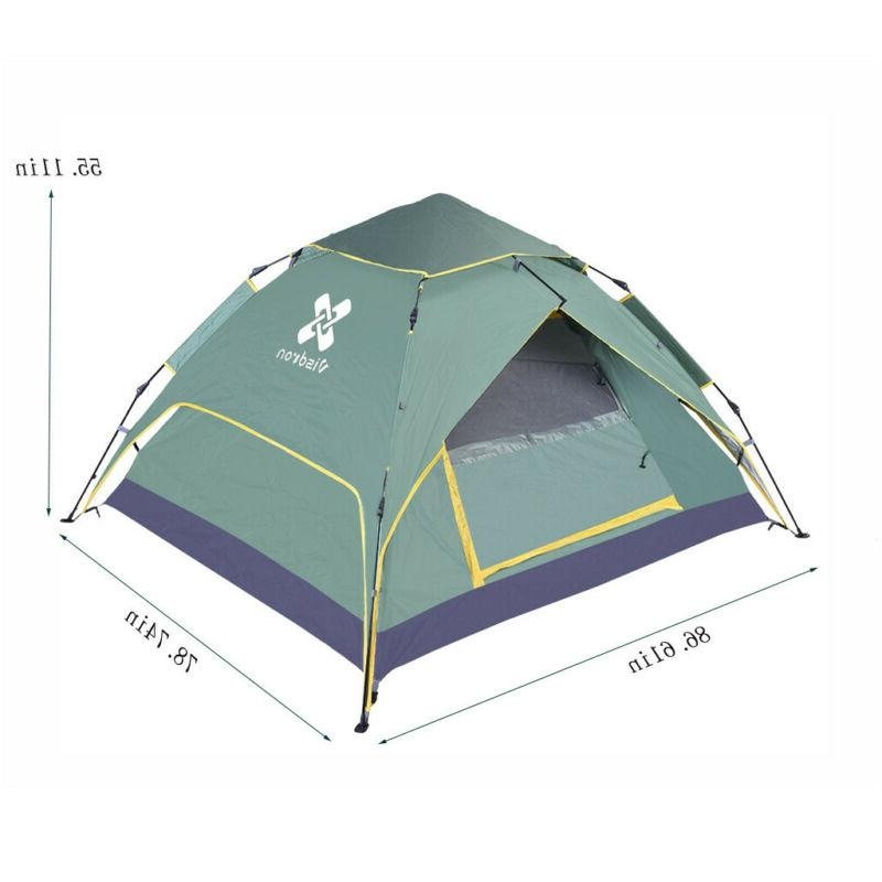 4-Person Instant Pop-Up Camping Family Hiking