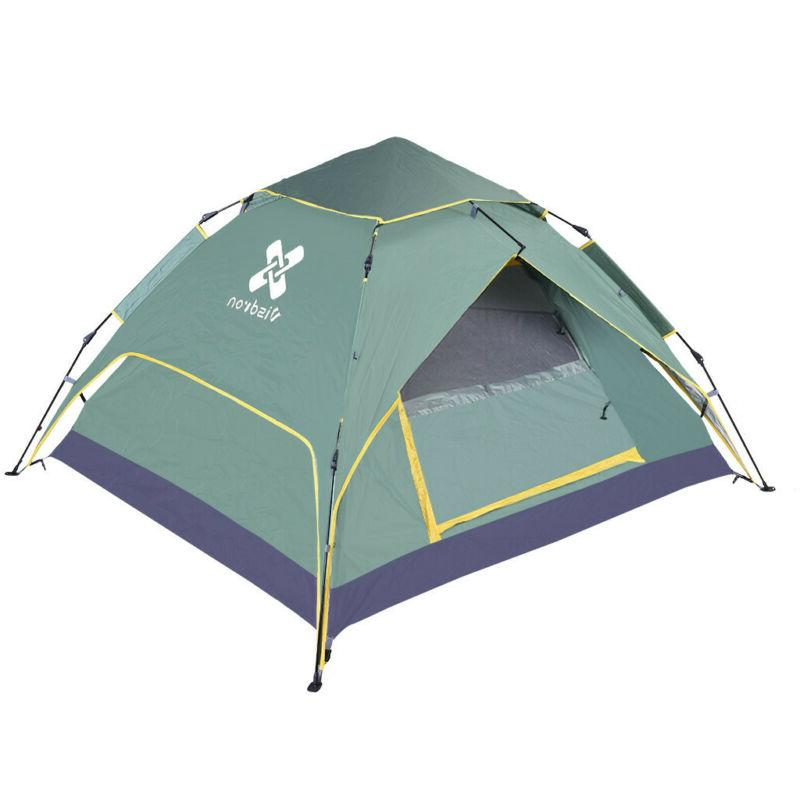 4-Person Pop-Up Camping Hiking Shelter Waterproof US