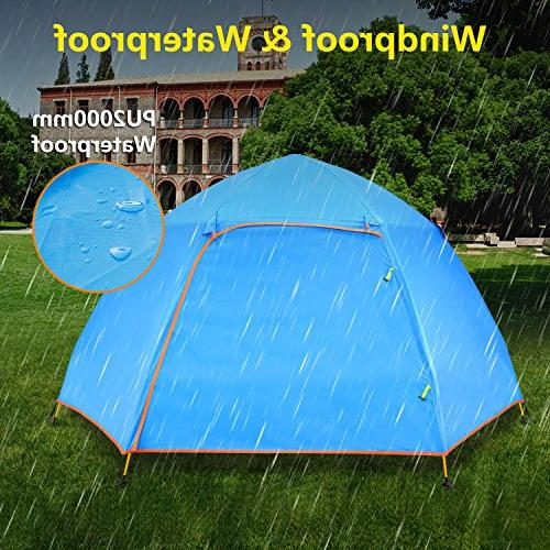 BATTOP Person Instant Pop Family Camping Tent Layer 4