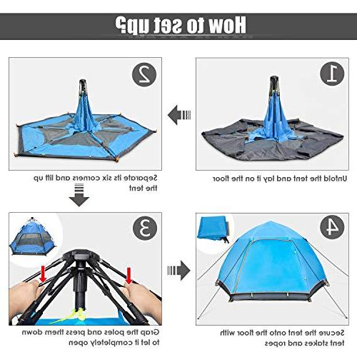 BATTOP 4 Instant Pop Up Camping Layer 4