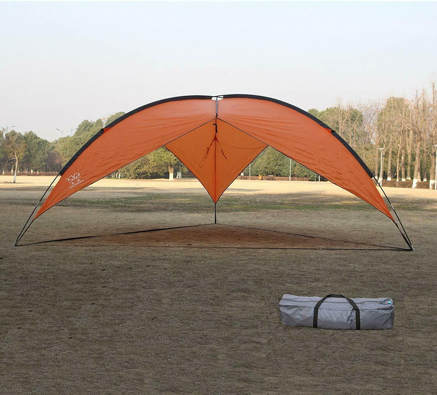 Large Family Beach Canopy Tent Set Up Sun Outdoor