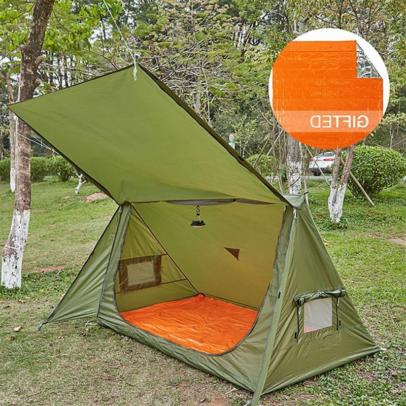 OneTigris 4 Season <font><b>Tent</b></font> Ultralight Bushcrafters & Survivalists Hunting Hiking Polyester