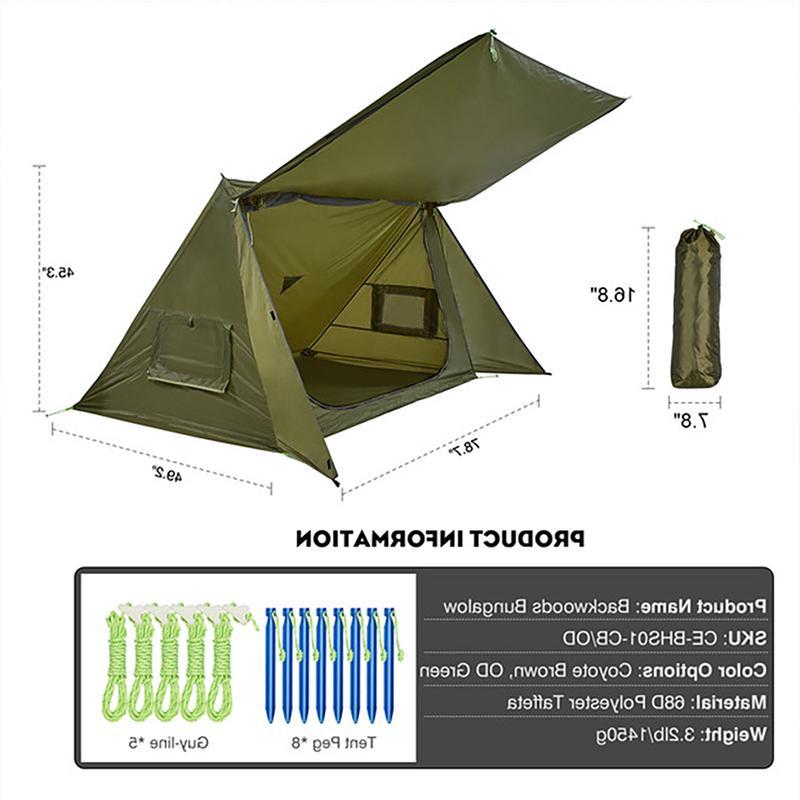 OneTigris Ultralight <font><b>Shelter</b></font> for & Survivalists Hiking 68D Taffeta
