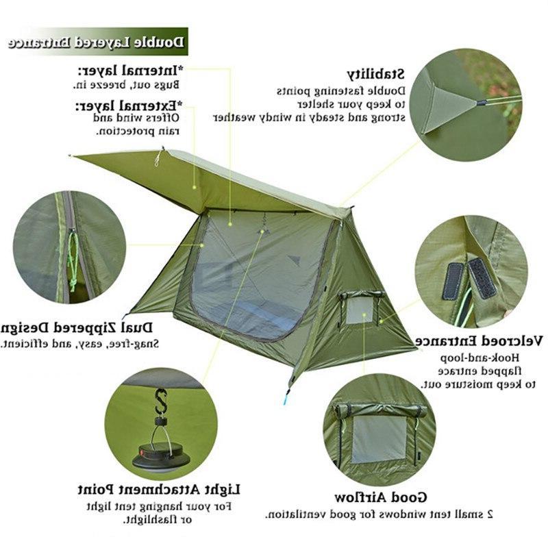OneTigris Ultralight <font><b>Shelter</b></font> for & Survivalists Hiking 68D Polyester
