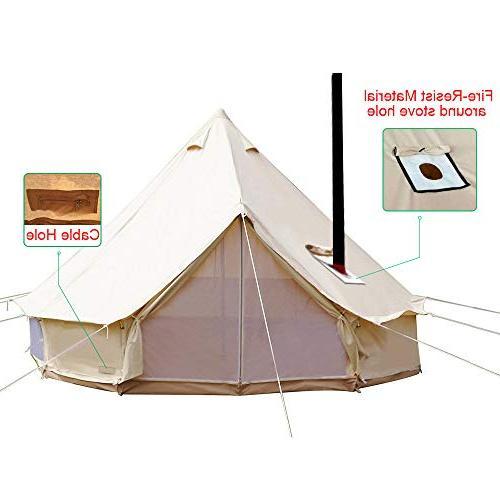 PlayDo 4-Season Waterproof Cotton Canvas Wall Tent Yurts