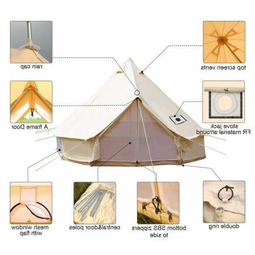 Bell 4-Season Canopy Tent Cotton Glamping Yurt