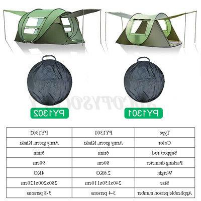 5-8 Person Waterproof Automatic Instant Camping