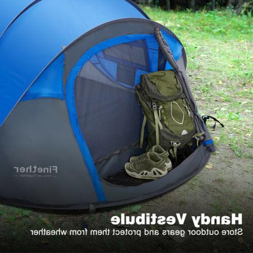 Waterproof All Season 5-6 People Family Camping Tent