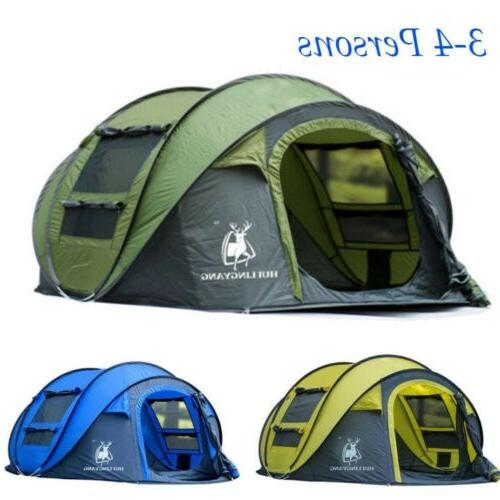 5 person instant pop up tent camping