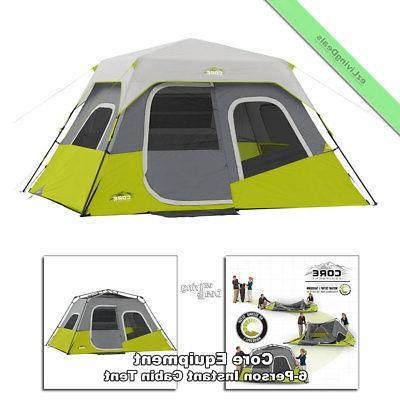 6 person instant cabin tent