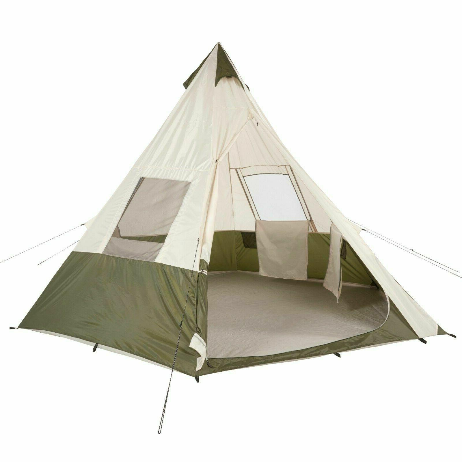7 person teepee tent sleeping outdoor family