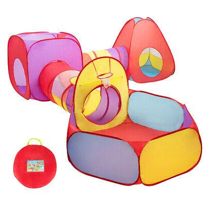 7pc Kids Birthday Gift Ball Pit Play Tents &Tunnels Pop Up B
