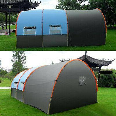 8 10 Large Outdoor Tent Tunnel Camping Hiking Layer