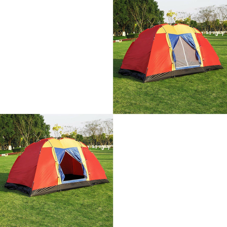 Koreyosh Tent 12.5ft Hiking Dome Family Easy Setup Red