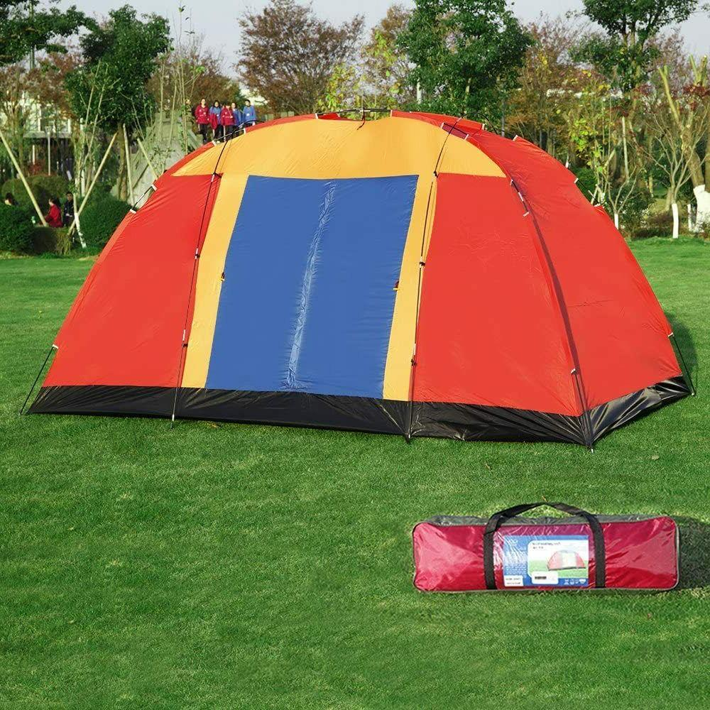 Koreyosh Camping Tent Hiking Dome Family Easy Red