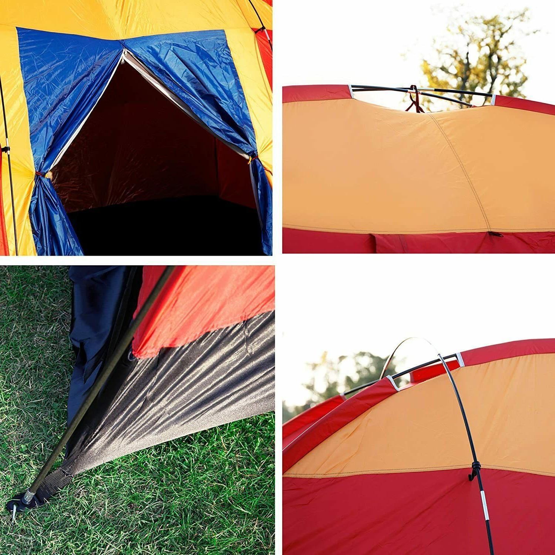 Koreyosh Tent 12.5ft Dome Family Easy Setup Red