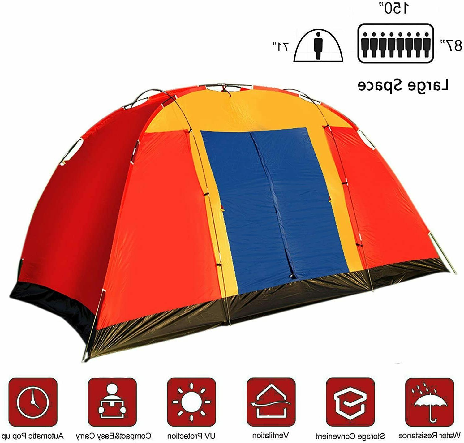 8 person camping tent 12 5ft outdoor