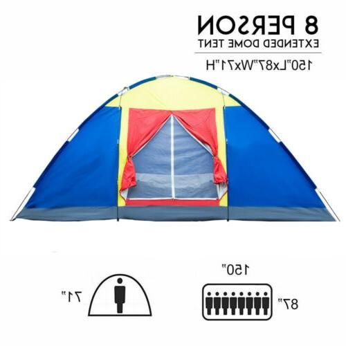 8 Person Large Family Tent Traveling Camping Hiking