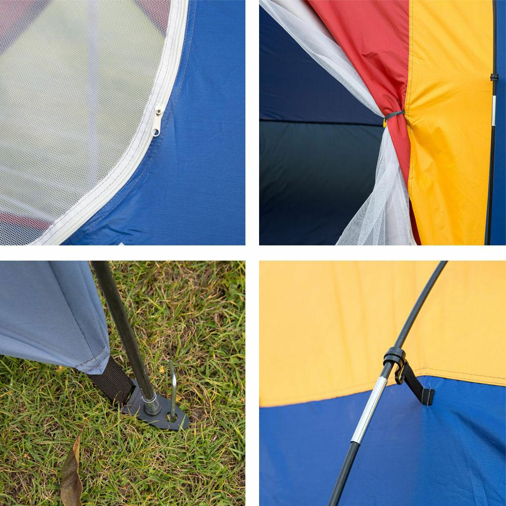 8 Person Large Tent Camping Hiking &Blue