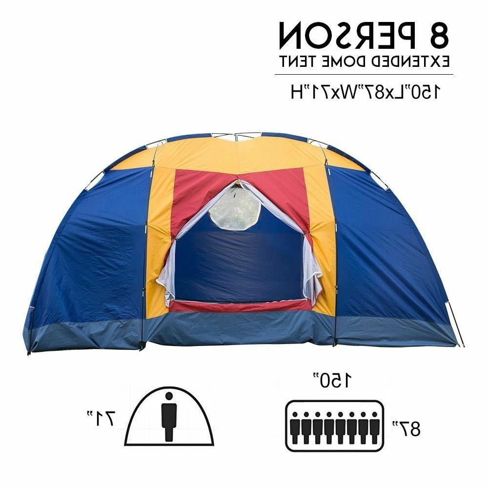 6 8 person family large tent outdoor