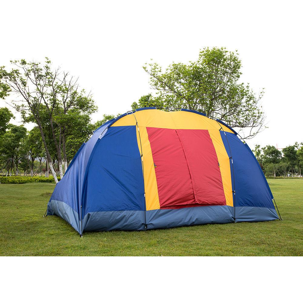 8 Person Family Large Tent Camping Hiking &Blue