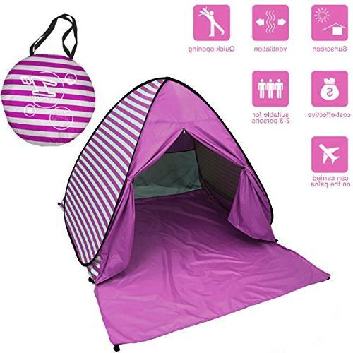 quality design 712b5 2aeb8 FLYTON Pop Up Beach Tent Shade Sun Shelter