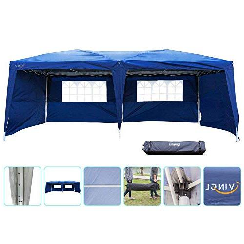 b6f16cb62d VINGLI 10' x 20' Heavy Duty EZ Pop Up Canopy Tent with ...