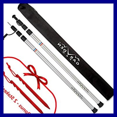 adjustable aluminum tarp poles
