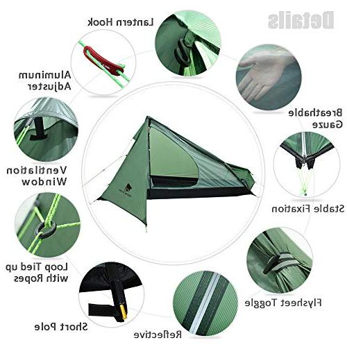 Geertop Backpacking Tent Ultralight with Carry Portable Tent for Hiking, Traveling