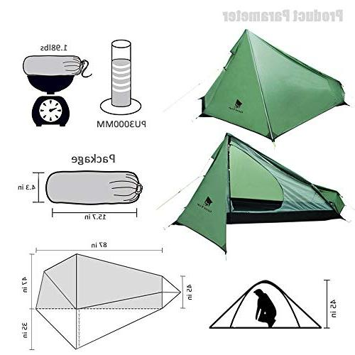 Geertop Ultralight 1 with Bag, & Tent for Camping, Traveling