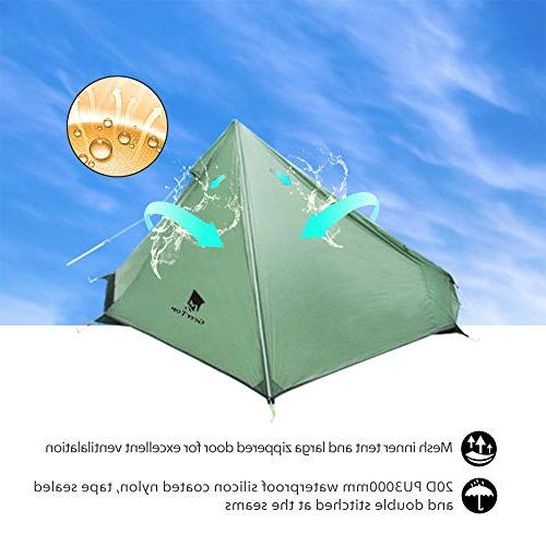 Geertop Ultralight 1 Person with Portable & Setup Tent for Traveling