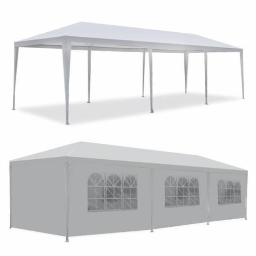 10'x30' Outdoor Canopy Party Wedding Tent White Gazebo Pavil