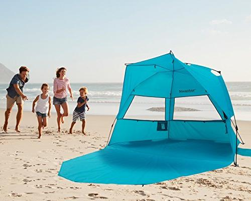 Alvantor Extra Large Beach Tent Super Bluecoast Beach