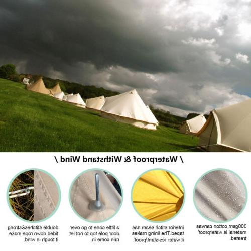 Bell Tent Canopy Sibley Cotton Canvas Yurt