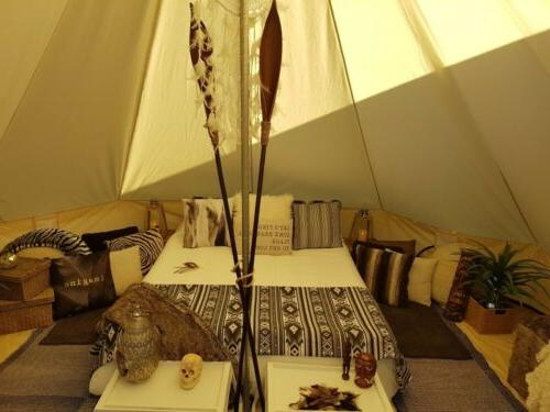 Bell Tent 4-Season Canopy Sibley Tent Cotton Glamping Yurt