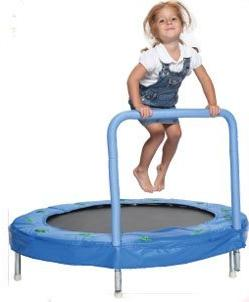 """Bazoongi 48"""" Bouncer Trampoline with Handle Bar"""