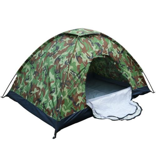 Camo Outdoor Camping Waterproof 1-2 Person Folding Tent Camo