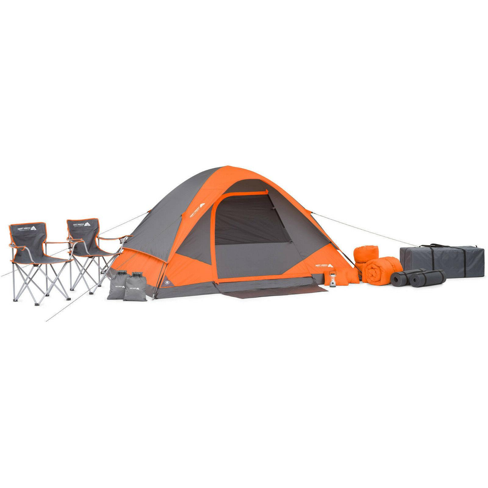 NEW Ozark Trail 22 Piece Camping Combo Set Tent Sleeping Bag