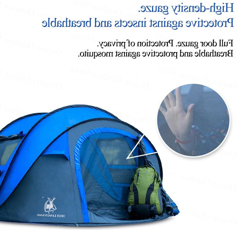 Camping Tent Person Hiking Automatic Hydraulic