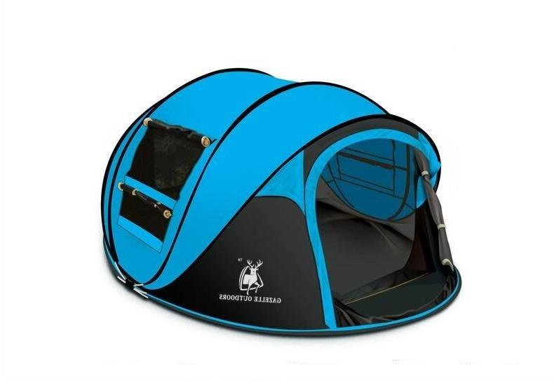 Camping Tent Hiking Up