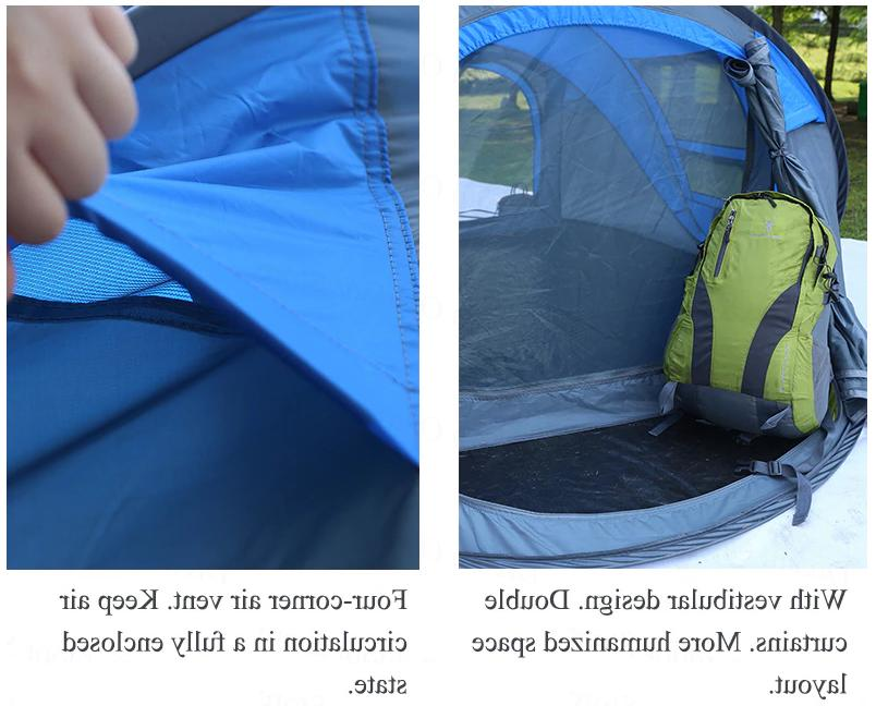 Camping Tent 3-6 Person Hiking Pop Waterproof Automatic Hydraulic