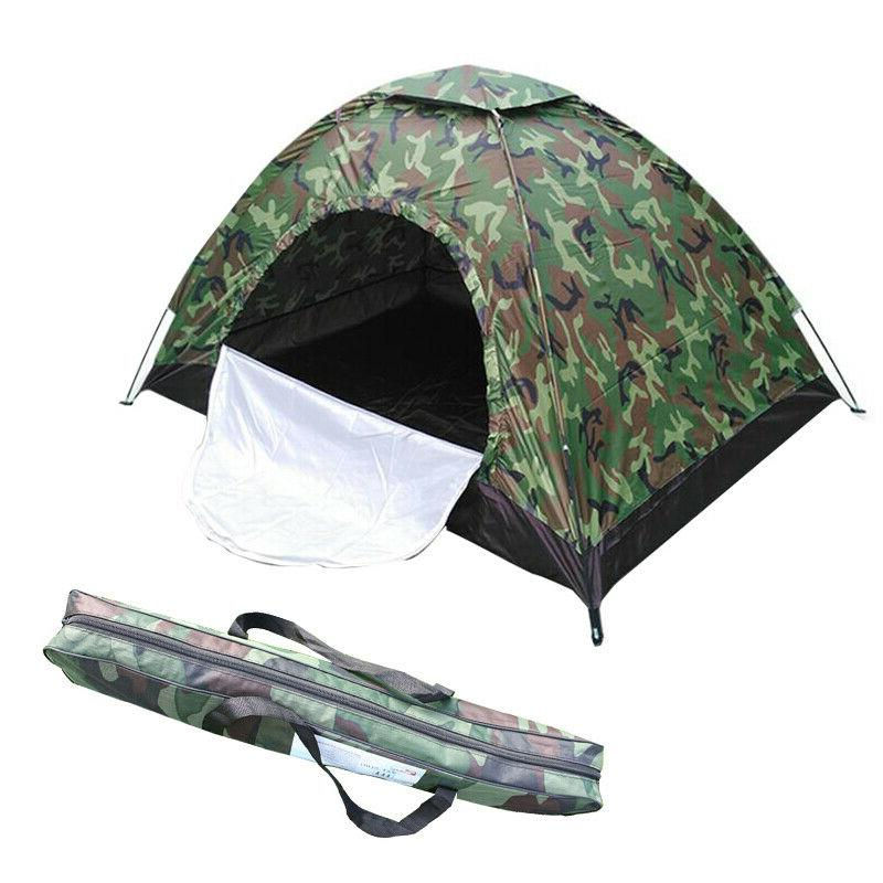 3-4 Persons Outdoor Camping Tent Hiking Automatic Folding Qu