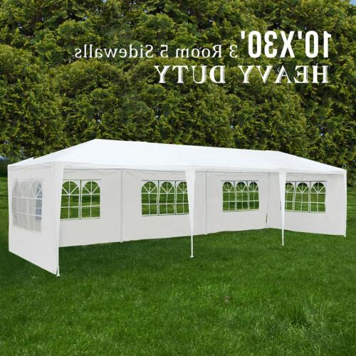 10'x30' Outdoor Canopy Party Wedding Tent Gazebo Heavy Duty