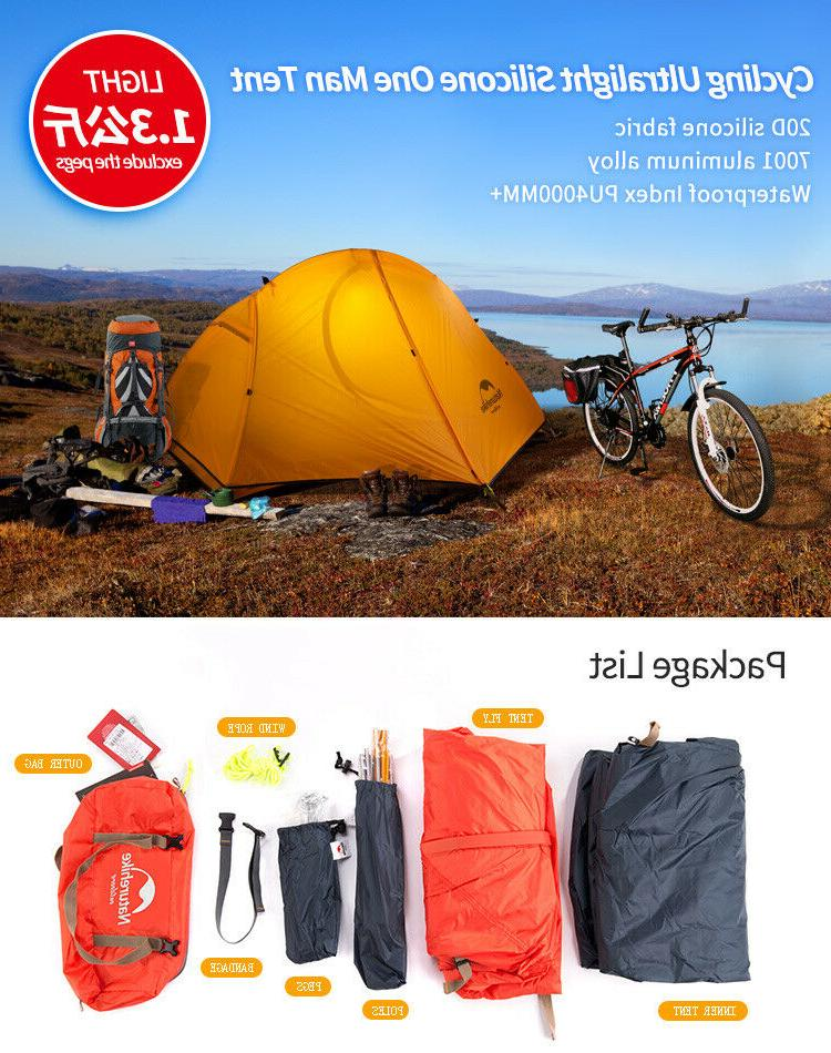 cycling backpack tent ultralight 20d 210t