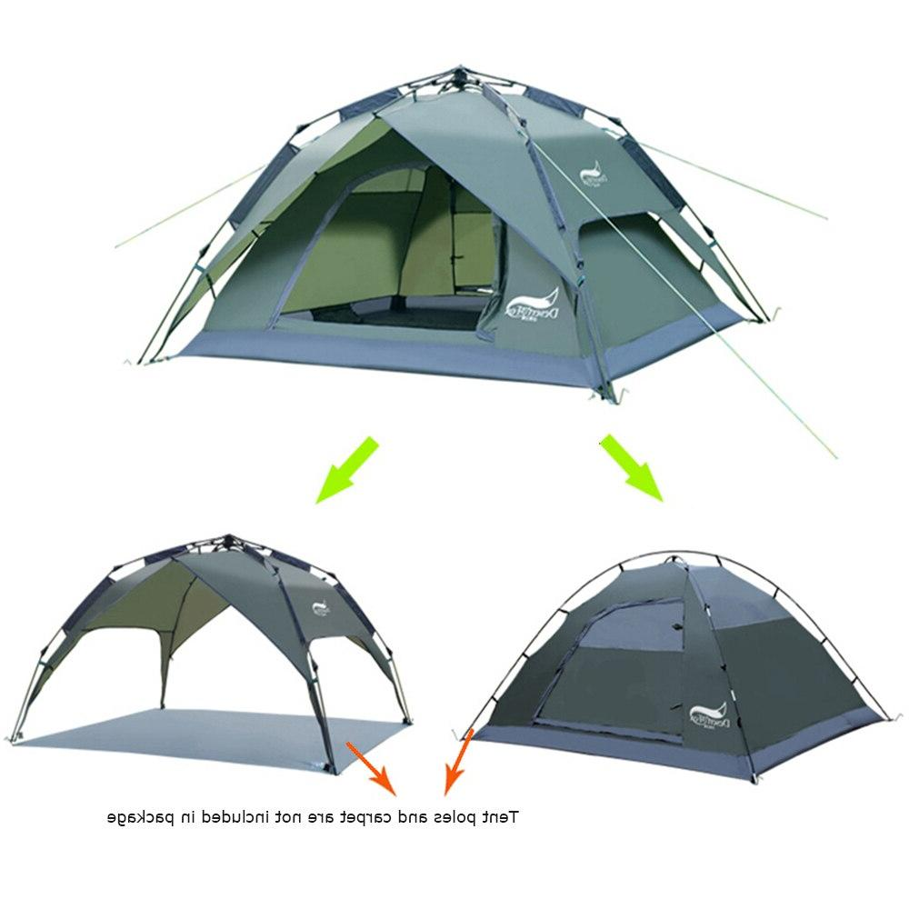 Desert&Fox Automatic 3-4 Person Instant Setup Protable Backpacking Sun <font><b>Shelter</b></font>,Travelling,Hiking