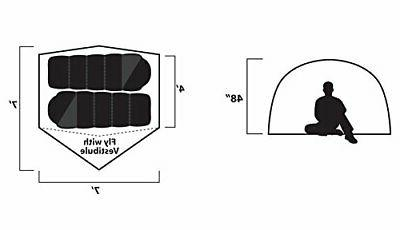 GigaTent Dome Backpacking Tent Sleeper 3 Season -