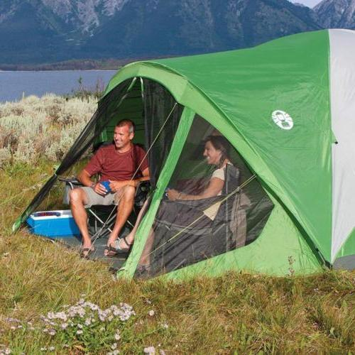 Coleman Tent with Screen Room Evanston Camping Screened-In