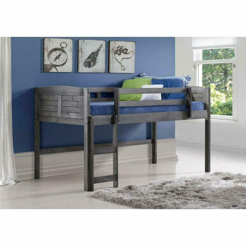 Donco Loft Bed, Twin, Grey