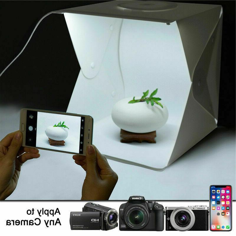 Double LED Photography Light Tent 4 Backdrops